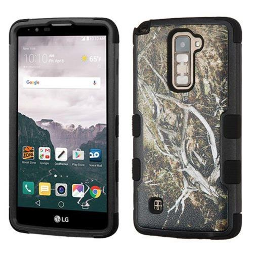 Insten Tuff Vines Hard Dual Layer Silicone Case For LG Stylo 2 Plus - Yellow/Black