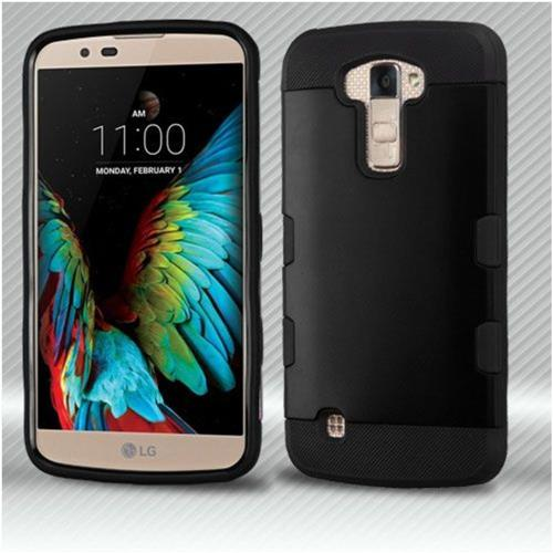 Insten Hard TPU Cover Case For LG K10 (2016)/Premier LTE - Black