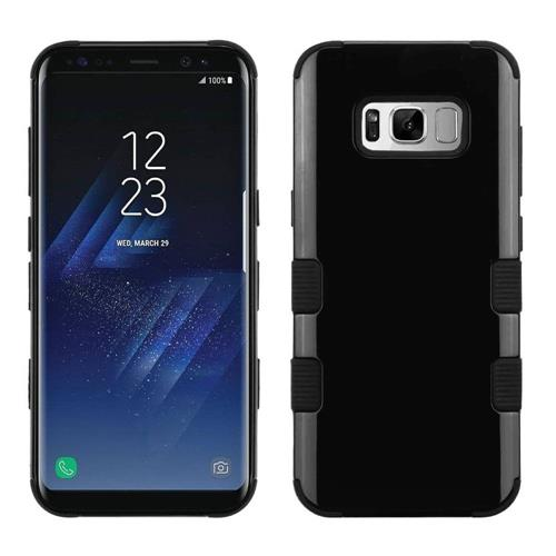 Insten Tuff Hard Hybrid Silicone Cover Case For Samsung Galaxy S8 - Black