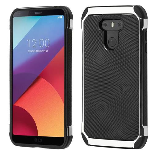 Insten Hard Hybrid TPU Case For LG G6 - Black/Silver