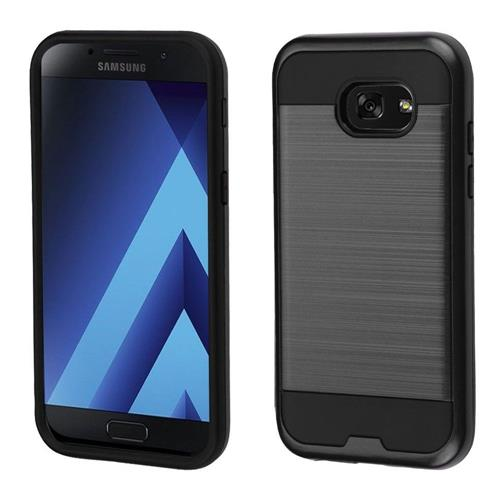 Insten Hard Dual Layer Brushed TPU Case For Samsung Galaxy A5 (2017) - Black