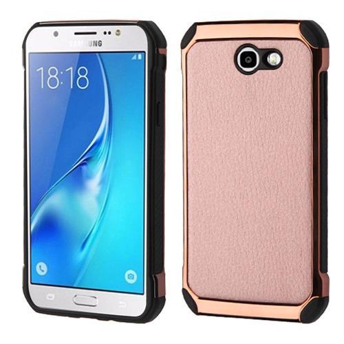 Insten Hard Hybrid TPU Cover Case For Samsung Galaxy J7 (2017)/J7 Perx/J7 Sky Pro/J7 V - Rose Gold