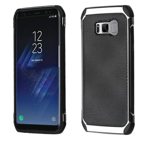 Insten Hard Dual Layer TPU Case For Samsung Galaxy S8 - Black/Silver