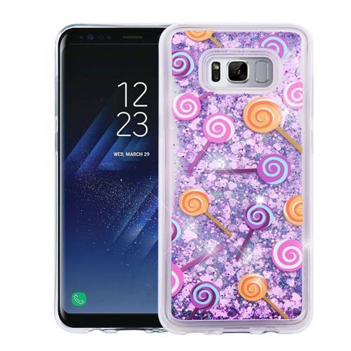 Insten Quicksand Lollipop Hard Glitter TPU Case For Samsung Galaxy S8 - Purple