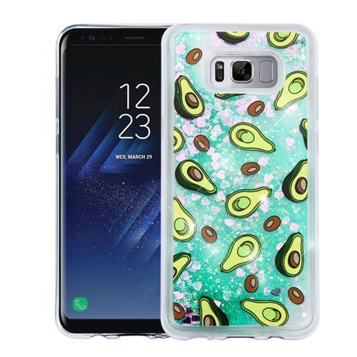 Insten Quicksand Avocado Hard Plastic TPU Cover Case For Samsung Galaxy S8 - Green
