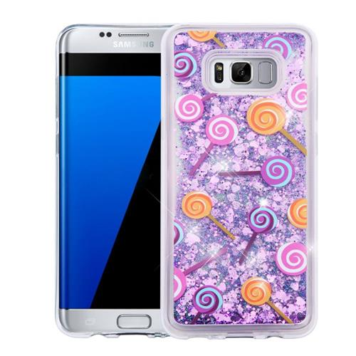 Insten Quicksand Lollipop Hard Glitter TPU Case For Samsung Galaxy S8 Plus - Purple