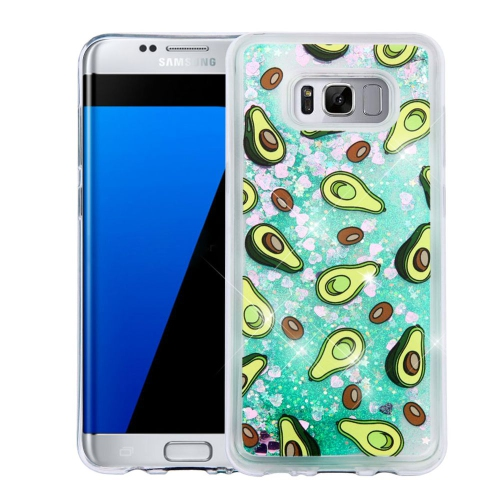 Insten Quicksand Avocado Hard Plastic TPU Cover Case For Samsung Galaxy S8 Plus - Green