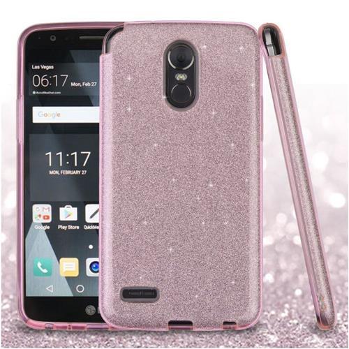 Insten Hard Hybrid Glitter TPU Case For LG Stylo 3 - Pink