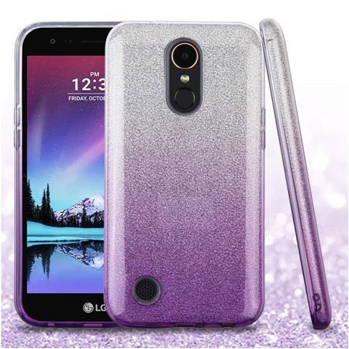 Insten Gradient Hard Dual Layer Glitter TPU Case For LG Harmony/K10 (2017)/K20 Plus/K20 V - Purple