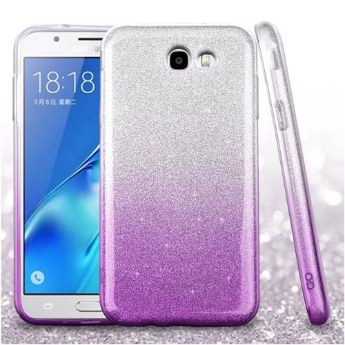 Insten Gradient Hard Glitter TPU Case For Samsung Galaxy J7 (2017)/J7 Perx/J7 Sky Pro/J7 V, Purple