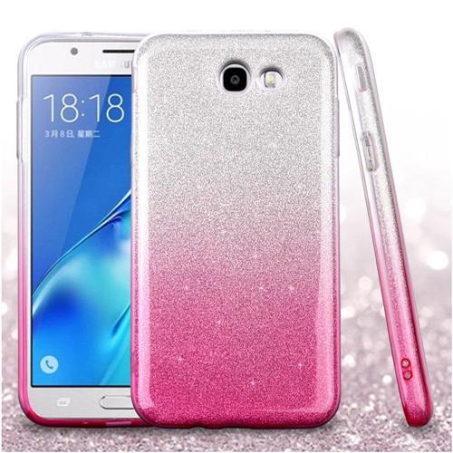 Insten Gradient Hard Glitter TPU Case For Samsung Galaxy J7 (2017)/J7 Perx/J7 Sky Pro/J7 V, Pink