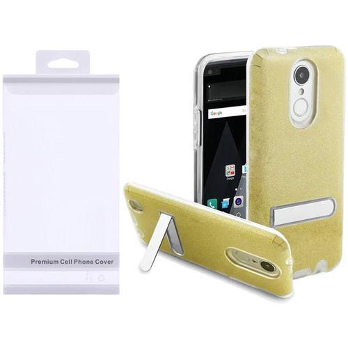 Insten Hard Glitter TPU Case w/stand For LG Aristo/K8 (2017), Gold