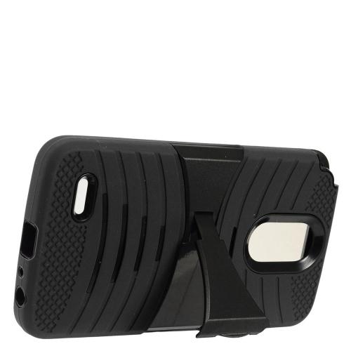 Insten Skin Hybrid Rubber Hard Case w/stand For LG Stylo 3 - Black