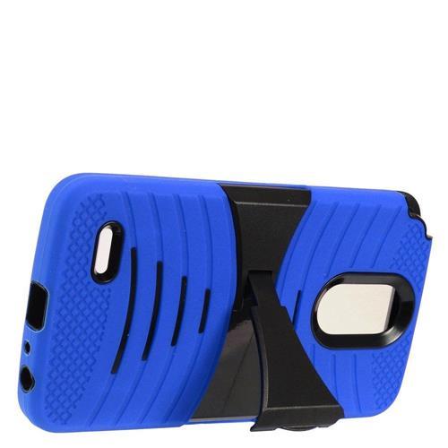 Insten Gel Hybrid Rubber Hard Case w/stand For LG Stylo 3 - Blue/Black