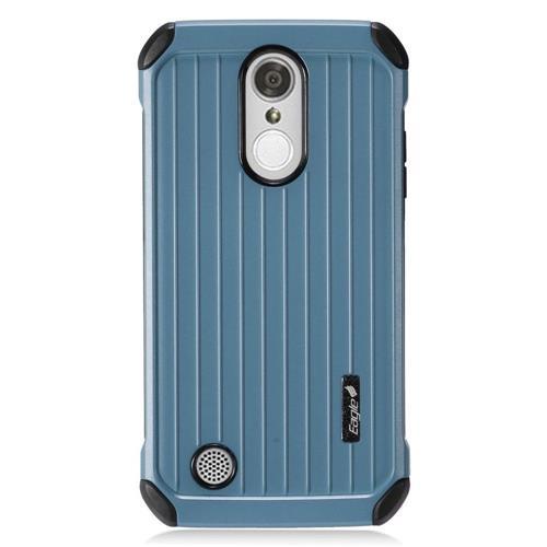 Insten Hard Hybrid Rubber Coated Silicone Case For LG Aristo/K8 (2017)/LV3 - Blue/Black
