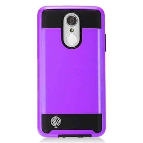 Insten Hard Hybrid TPU Case For LG Aristo/K8 (2017)/LV3 - Purple/Black