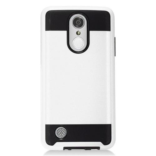 Insten Hard Dual Layer TPU Cover Case For LG Aristo/K8 (2017)/LV3 - White/Black