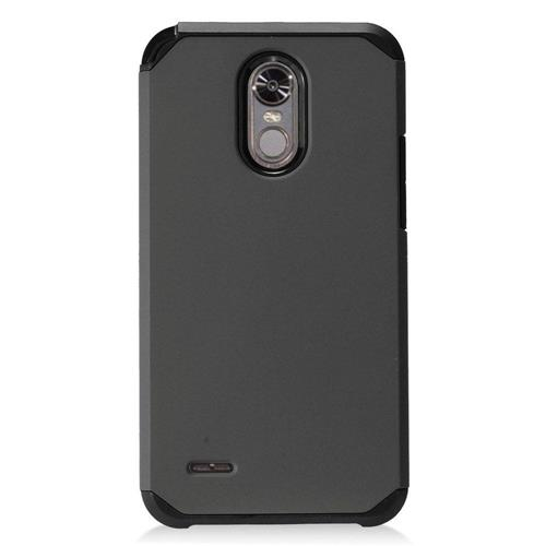 Insten Hard Dual Layer TPU Cover Case For LG Stylo 3 - Black