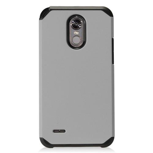 Insten Hard Hybrid TPU Case For LG Stylo 3 - Gray