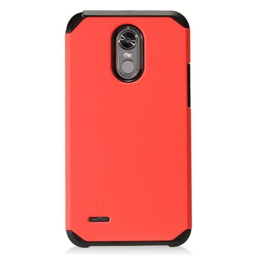 Insten Hard Dual Layer TPU Cover Case For LG Stylo 3 - Red