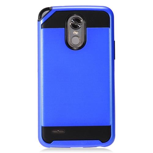 Insten Hard Dual Layer TPU Cover Case For LG Stylo 3 - Blue/Black
