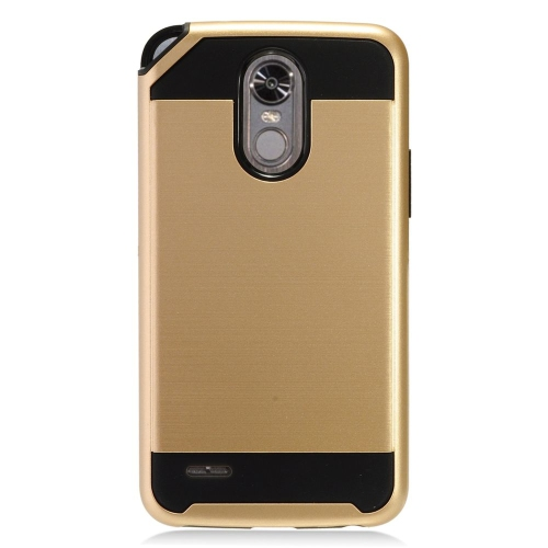 Insten Hard Dual Layer TPU Case For LG Stylo 3 - Gold/Black