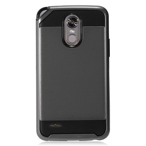 Insten Hard Hybrid TPU Case For LG Stylo 3 - Gray/Black