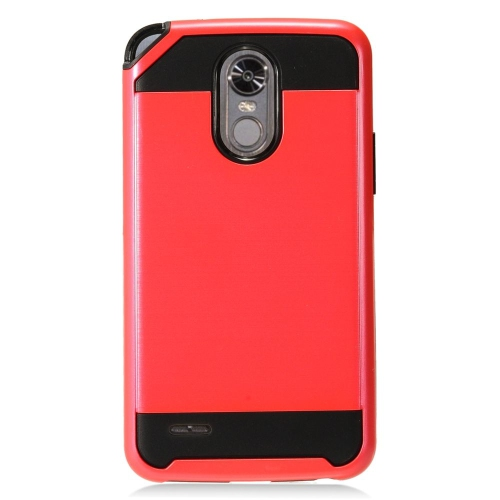 Insten Hard Dual Layer TPU Case For LG Stylo 3 - Red/Black