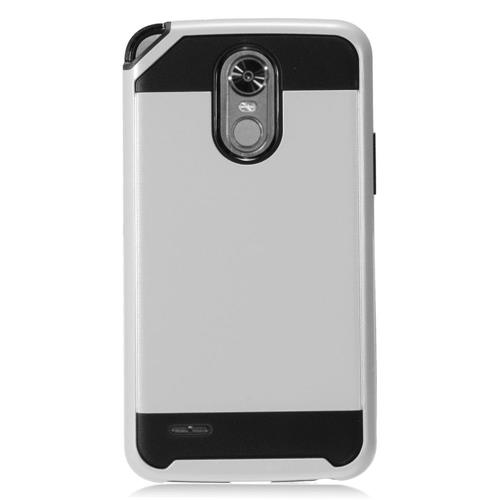 Insten Hard Dual Layer TPU Case For LG Stylo 3 - Silver/Black