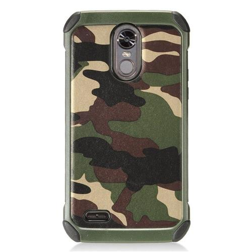 Insten Camouflage Hard Dual Layer TPU Cover Case For LG Stylo 3 - Green/Black