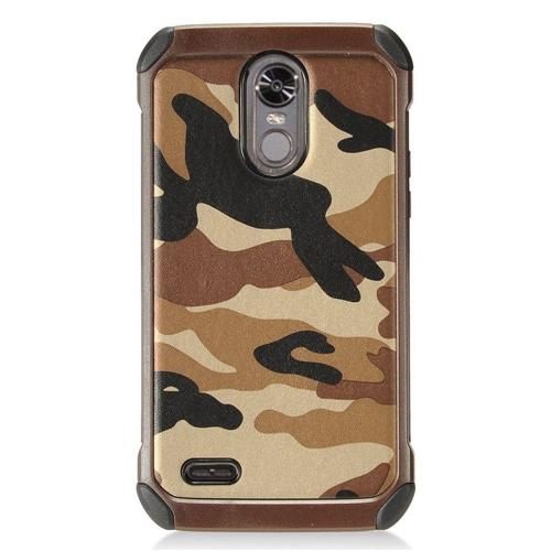 Insten Camouflage Hard Hybrid TPU Case For LG Stylo 3 - Brown/Black