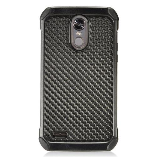 Insten Carbon Fiber Hard Hybrid TPU Case For LG Stylo 3 - Black