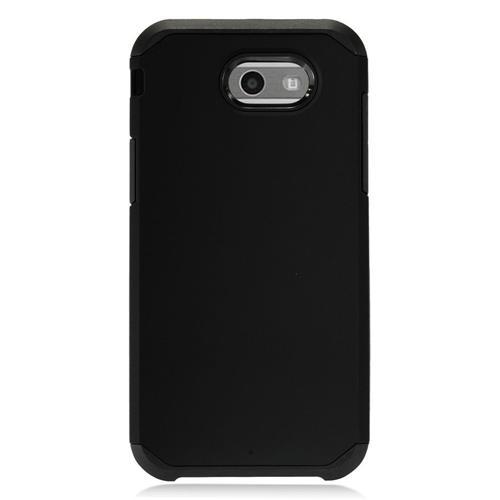 Insten Hard Dual Layer TPU Case For Samsung Galaxy J3 (2017) - Black