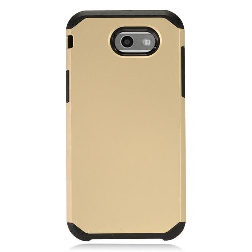 Insten Hard Hybrid TPU Cover Case For Samsung Galaxy J3 (2017) - Gold