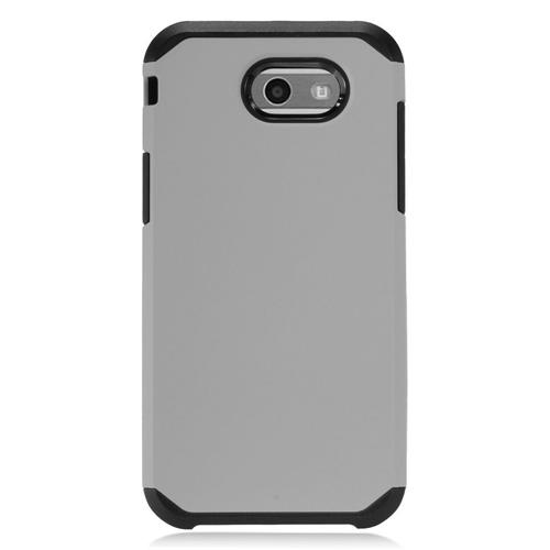 Insten Hard Dual Layer TPU Cover Case For Samsung Galaxy J3 (2017) - Gray