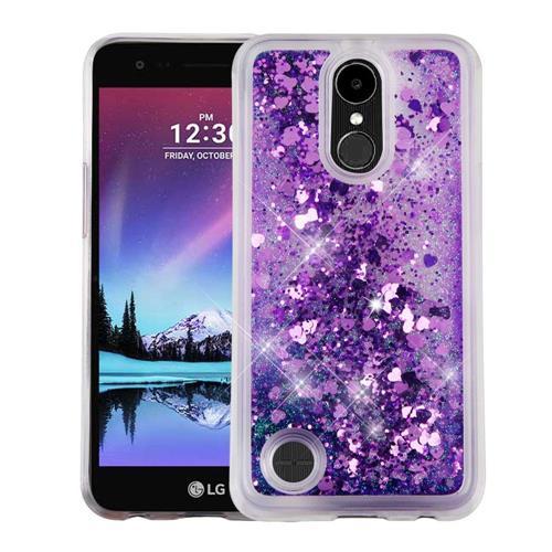 Insten Hearts Hard Glitter TPU Cover Case For LG K10 (2017)/K20 Plus/V5 - Purple