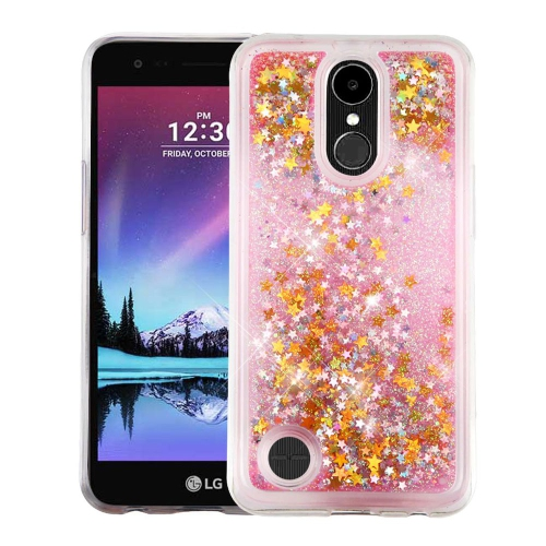 Insten Stars Hard Glitter TPU Cover Case For LG K10 (2017)/K20 Plus/V5 - Pink