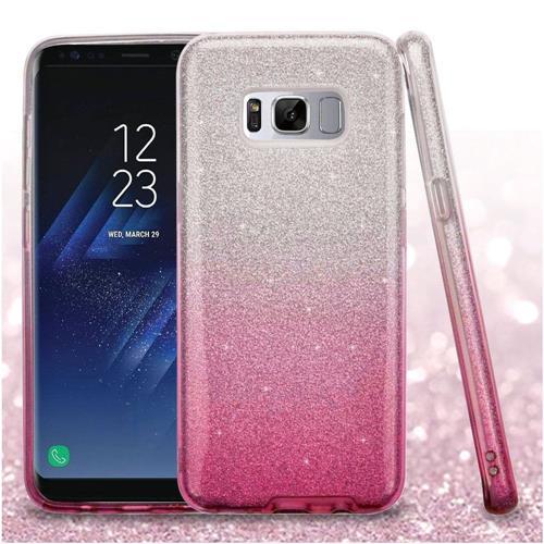 Insten Hard Hybrid Glitter TPU Case For Samsung Galaxy S8 - Pink