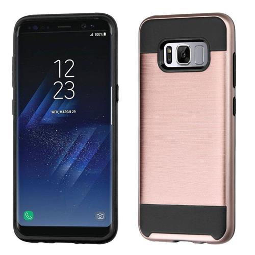 Insten Hard Dual Layer TPU Case For Samsung Galaxy S8 - Rose Gold/Black