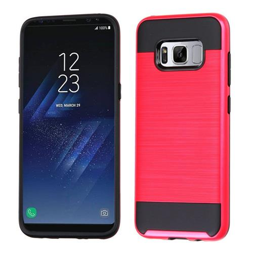 Insten Fitted Soft Shell Case for Samsung Galaxy S8 - Black;Red