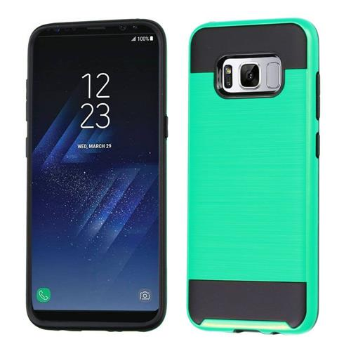 Insten Hard Dual Layer TPU Case For Samsung Galaxy S8 - Green/Black