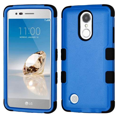 Insten Hard Hybrid Rubber Silicone Case For LG Aristo/Fortune/K8 (2017)/LV3/Phoenix 3, Blue/Black