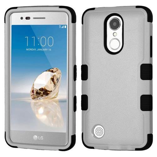 Insten Tuff Hard Hybrid Silicone Case For LG Aristo/Fortune/K8 (2017)/LV3/Phoenix 3 - Gray/Black