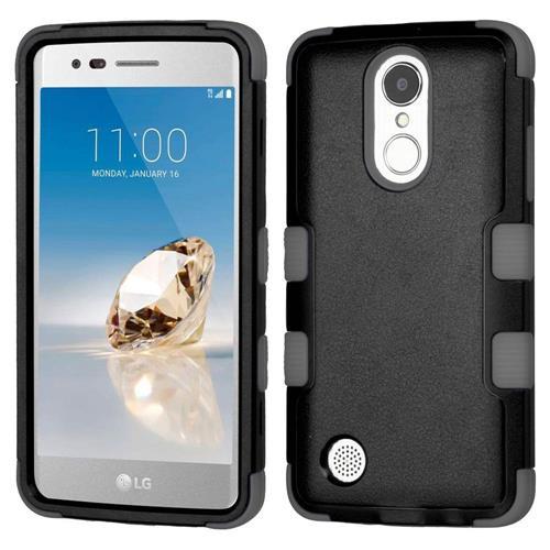 Insten Tuff Hard Hybrid Silicone Case For LG Aristo/Fortune/K8 (2017)/LV3/Phoenix 3 - Black/Gray