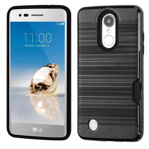 Insten Hard Hybrid TPU Cover Case For LG Aristo/Fortune/K8 (2017)/LV3/Phoenix 3 - Black