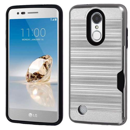 Insten Hard Hybrid TPU Cover Case For LG Aristo/Fortune/K8 (2017)/LV3/Phoenix 3 - Silver/Black