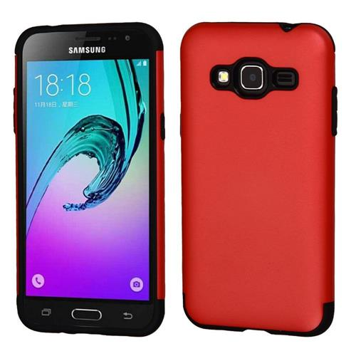 Insten Hard TPU Case For Samsung Galaxy Amp Prime/Express Prime /J3 (2016)/Sky/Sol, Red/Black
