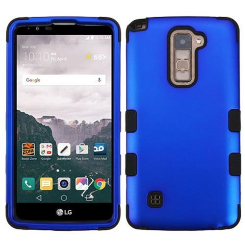 Insten Tuff Hard Dual Layer Rubber Silicone Cover Case For LG Stylo 2 Plus - Blue/Black