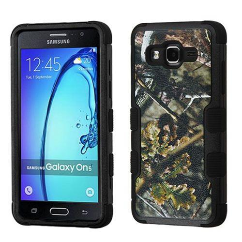 Insten Tuff English Oak Hard Hybrid Rubber Silicone Case For Samsung Galaxy On5 - Green/Black