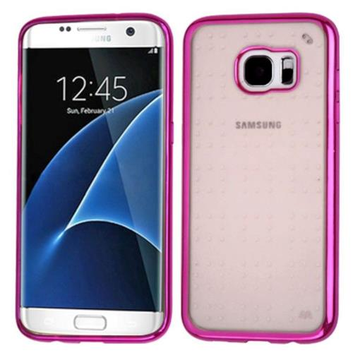 Insten TPU Case For Samsung Galaxy S7 Edge - Hot Pink